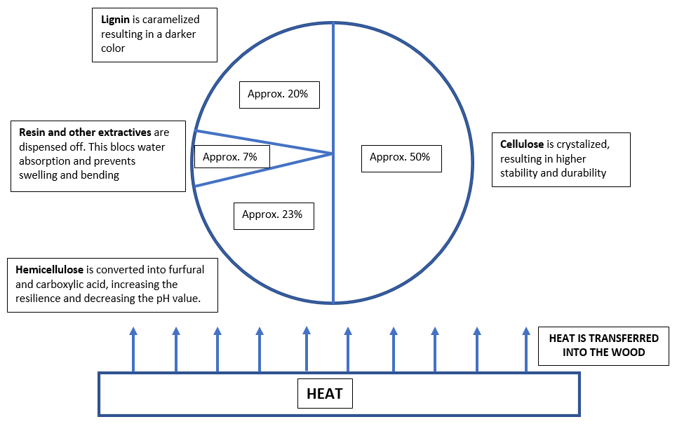 SUMMARY OF THE MODIFICATIONS TO THE WOOD STRUCTURE During Thermal Modification Process